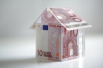 House made from european union currency